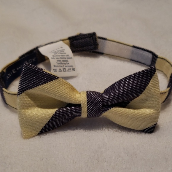 Janie and Jack Other - Navy and yellow striped bowtie